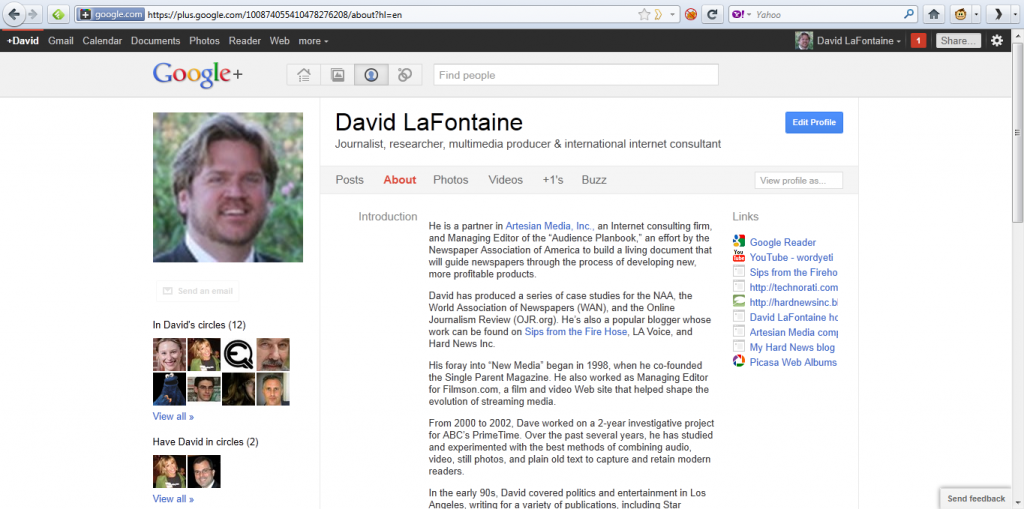 dave lafontaine profile on google plus
