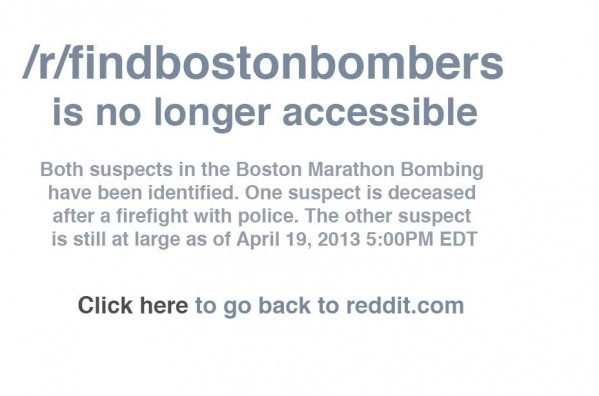 reddit boston bomber thread taken down